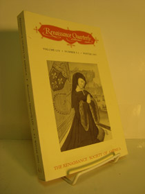 Renaissance Quarterly, Volume LIV, Number 4.1, Winter 2001