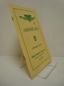 Americana, Catalogue No. 119, Edward Morrill & Son