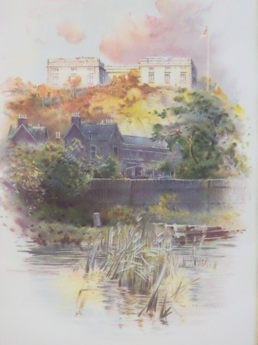 1905 Charles Wilkinson Print: 'Nottingham Castle' [England], after a photograph by Hudson, [Wilkinson, Charles]