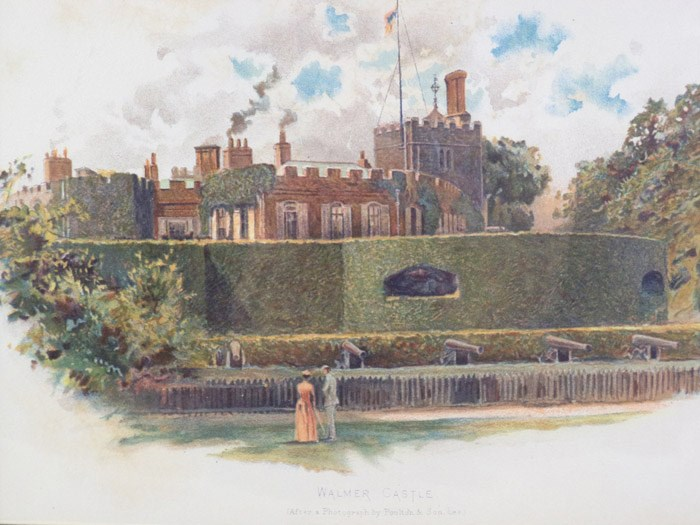 1905 Charles Wilkinson Print: 'Walmer Castle' [Kent, England], after a photograph by Poulton & Son, Lee, [Wilkinson, Charles]