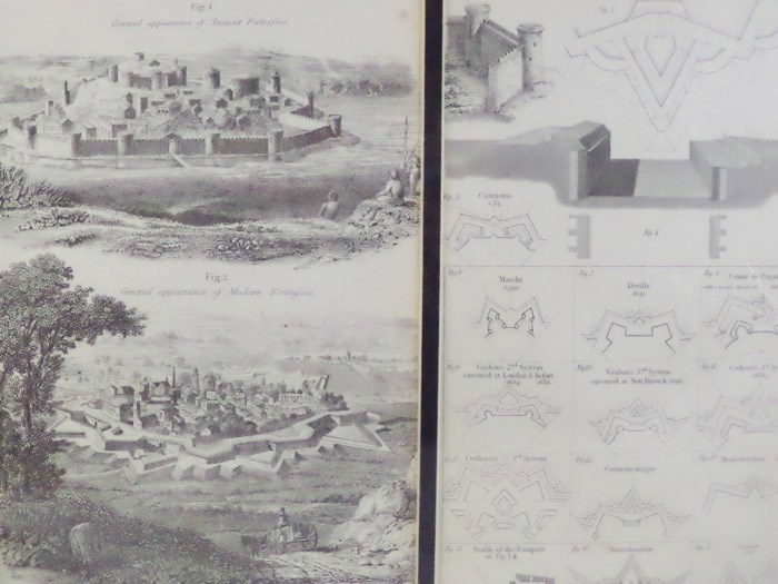 Two 1868 Fortification Prints