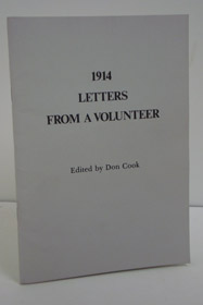 1914 Letters from a Volunteer, Cook, Charles St. G.; Cook, Don (Editor)