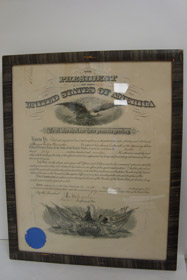Original Framed 1917 World War I Document Appointing Morgan Leattin Hannahs Second Lieutenant in the Veterinary Section Officers' Reserve Corps of the Army of the United States, Signed by William McIngraham, Assistant Secretary of War and Adjutant General H.P. McCain