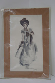 1905 Howard Chandler Christy Matted Print: Girl in Dress, Christy, Howard Chandler