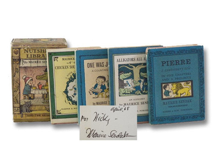 Nutshell Library: Pierre: A Cautionary Tale; Alligators All Around: An Alphabet; One Was Johnny: A Counting Book; Chicken Soup with Rice: A Book of Months, Sendak, Maurice