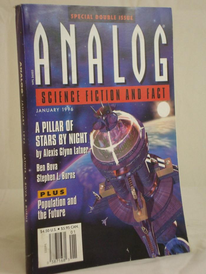 Analog: Science Fiction and Fact - January 1996, Latner, Alexis Glynn; Bova, Ben; Burns, Stephen L.