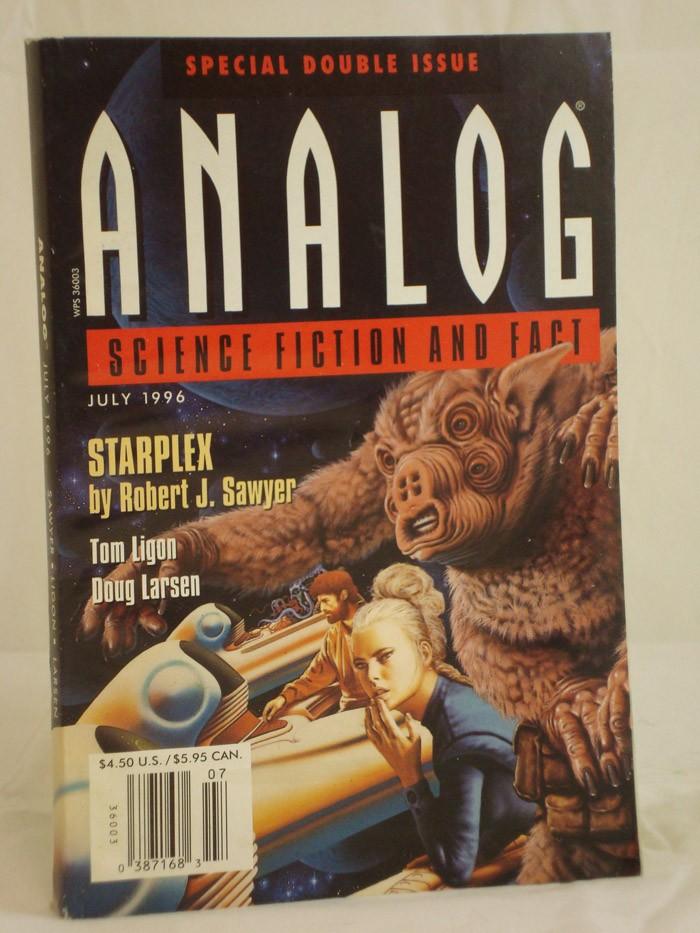 Analog: Science Fiction and Fact - July 1996, Sawyer, Robert, J.; Ligon, Tom; Larsen, Doug; Delaney, Joseph H.; Sparhawk, Bud