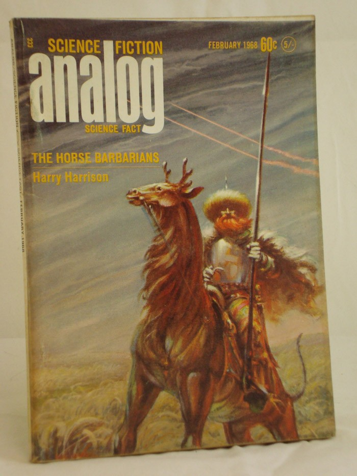 Analog: Science Fiction and Fact - February 1968, Harrison, Harry; Anderson, Poul; Richmond, Walt; Richmond, Leigh; Wodhams, Jack; Macfarlane, W.; Stine, G. Harry; Baldwin, Hanson W.