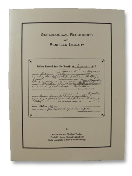 Genealogical Resources of Penfield Library, Vermue, Ed; Dunbar, Elizabeth