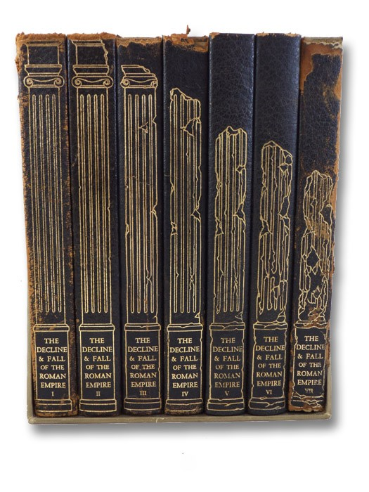 The History of the Decline & Fall of the Roman Empire, in Seven Volumes, Gibbon, Edward; Bury, J.B. (Editor); Guedalla, Philip (Letter to the Reader)