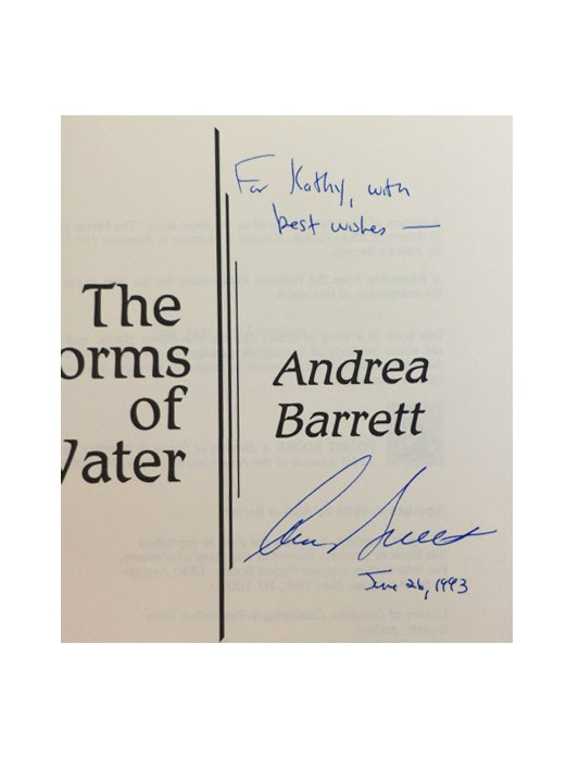 The Forms of Water (Signed First Edition), Barrett, Andrea