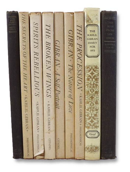 Kahlil Gibran Nine Volume Set: The Prophet; Spirits Rebellious; The Broken Wings; The Secrets of the Heart; A Self-Portrait; The Nature of Love; The Procession; The Kahlil Gibran Diary for 1973; This Man from Lebanon: A Study of Kahlil Gibran, Gibran, Kahlil
