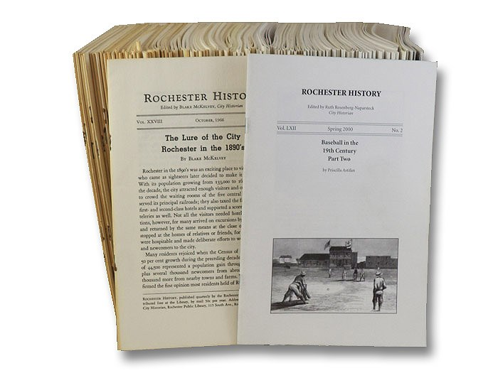 Rochester History, Non-Continuous Run of 109 Volumes, 1966-2000, McKelvey, Blake; Barnes, Joseph W.; Rosenberg-Naparsteck, Ruth