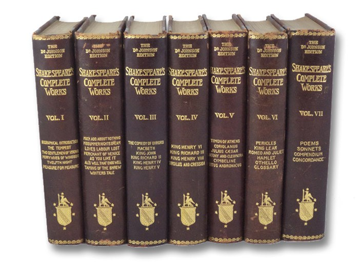 The Complete Works of Shakespeare, with Life, Compendium, and Concordance. in Seven Volumes., Shakespeare, William; Johnson, Dr. [Samuel]
