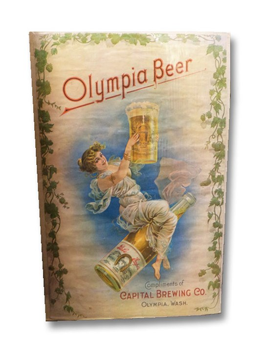 Color Lithographed Olympia Beer Poster, Advertisement for Capital Brewing Co., Olympia, WA, Capital Brewing Co. / Olympia Beer