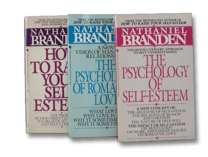 Signed 3-Volume Set: How To Raise Your Self-Esteem; The Psychology of Romantic Love; The Psychology of Self-Esteem, Branden, Nathaniel