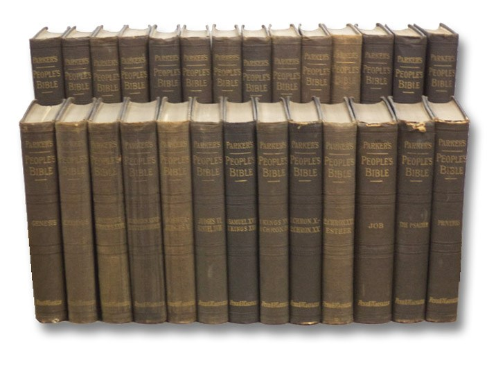 The People's Bible: Discourses upon Holy Scripture. in Twenty-Seven Volumes. [Includes The Inner Life of Christ], Parker, Joseph
