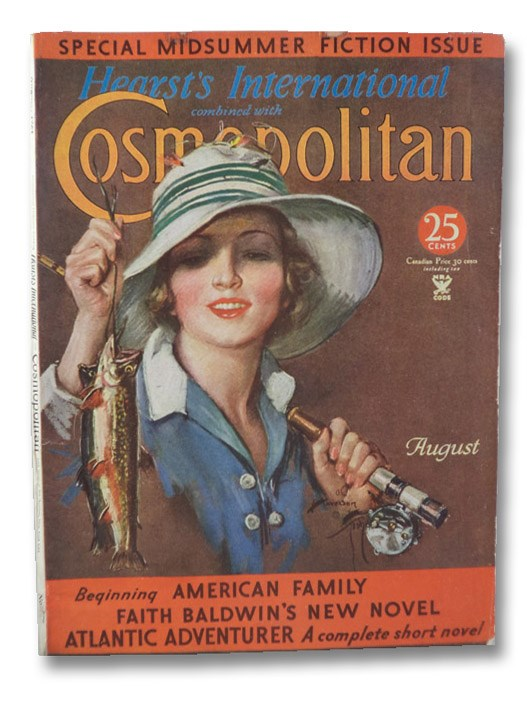Hearst's International Combined with Cosmopolitan Magazine, August 1934 - Special Midsummer Fiction Issue (No. 578), Bourbon, Diana; Baldwin, Faith; Van Dine, S.S.; Abdullah, Achmed; Brush, Katharine; Hurst, Fannie; Douglas, Marjory Stoneman; Annixter, Paul; Ripley, Clements; Wilde, Hagar; Sabatini, Rafael; Brown, Royal; Pitkin, Walter B.; Lyons, Eugene; Halliburton, R