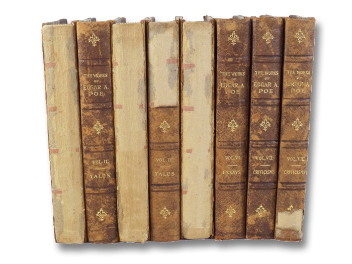 The Works of Edgar Allan Poe, in Eight Volumes (Illustrated Cabinet Edition, #139 of 1000), Poe, Edgar Allan
