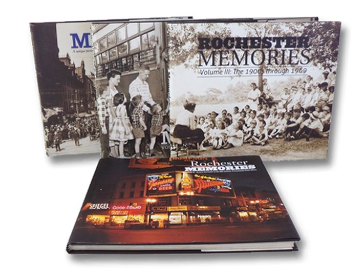 Rochester Memories, in Four Volumes: Volume 1: A Unique Pictorial Retrospective Presented by the Democrat & Chronicle; Volume 2: The 1940s, '50s, & '60s; Volume 3: The 1900s through 1969; Volume 4: Greater Rochester in the 20th Century: A Community Photo Album, Democrat & Chronicle; Zoibi, Ali M.
