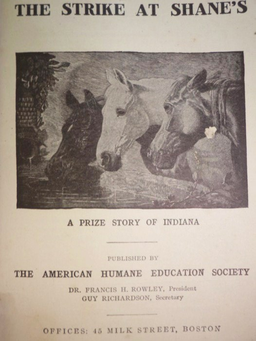 The Strike at Shane's: A Prize Story of Indiana, [Stratton-Porter, Gene]