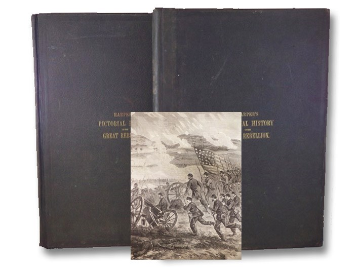 Harper's Pictorial History of the Great Rebellion, in Two Volumes: Part First - To the Close of the Peninsular Campaign of 1862.; Part Second. [American Civil War], Guernsey, Alfred H.; Alden, Henry M.