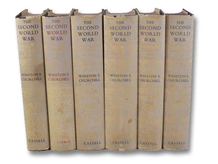 The Second World War Six Volume Set: The Gathering Storm; Their Finest Hour; The Grand Alliance; The Hinge of Fate; Closing the Ring; Triumph and Tragedy, Churchill, Winston S.