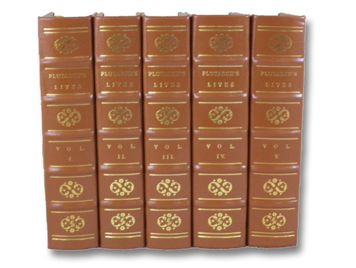 Plutarch: The Lives of the Noble Greeks and Romans, in Five Volumes (Easton Press Deluxe Limited Edition), Plutarch; Dryden, John