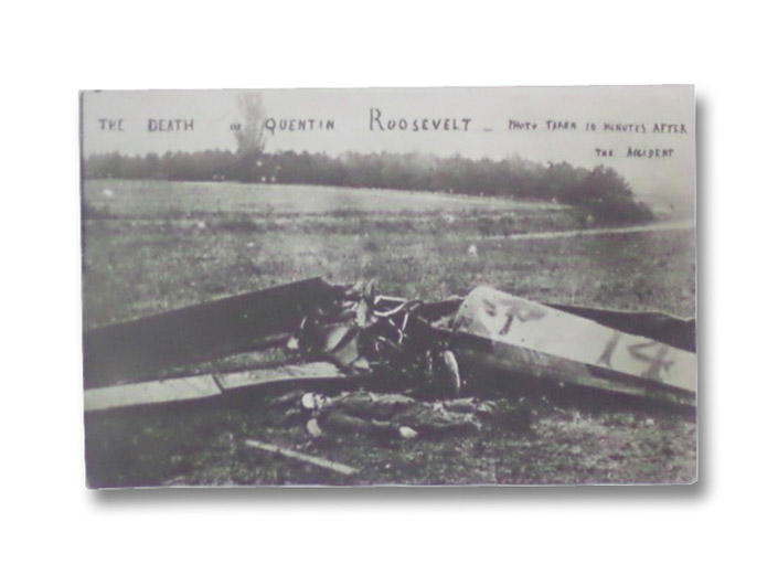 1918 Original Photo Postcard: The Death of Quentin Roosevelt [World War I Military Aviation Photograph]