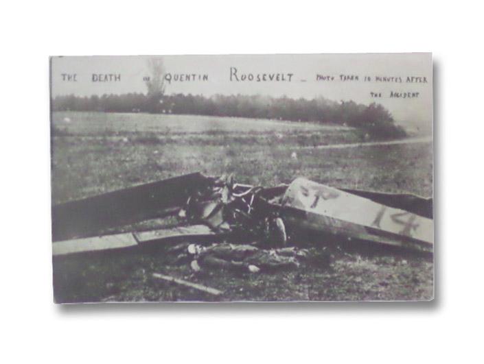 1918 Original Photo Postcard: The Death of Quentin Roosevelt [World War I Military Aviation Photograph]
