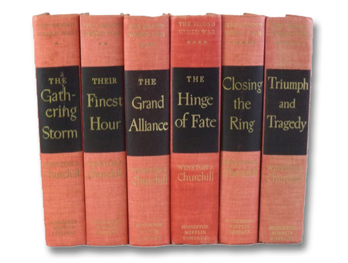 The Second World War Six Volume Set: Their Finest Hour; The Gathering Storm; The Hinge of Fate; The Grand Alliance; Closing the Ring; Triumph and Tragedy, Churchill, Winston S.