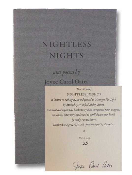 Nightless Nights: Nine Poems, Oates, Joyce Carol
