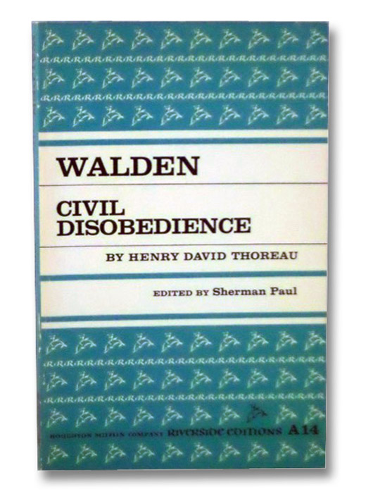 Walden and Civil Disobedience (Riverside Edition), Thoreau, Henry David