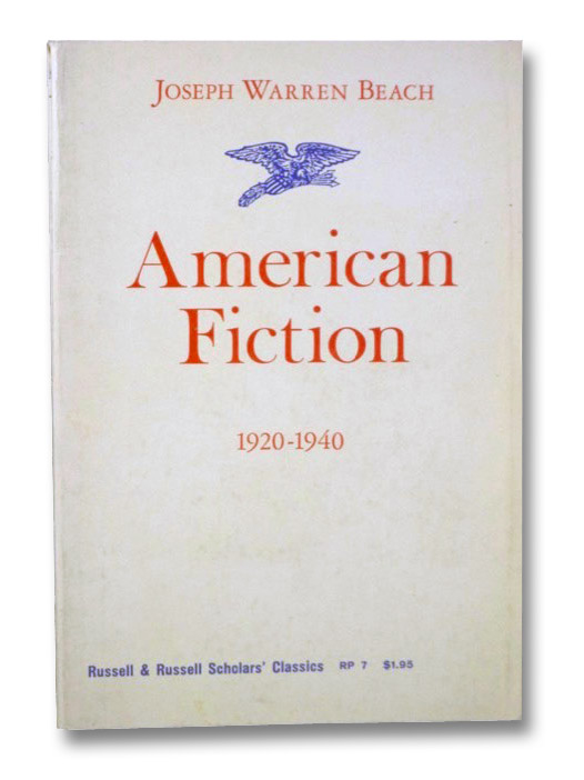 American Fiction, 1920-1940, Beach, Joseph Warren