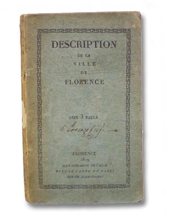 Description de la Ville de Florence