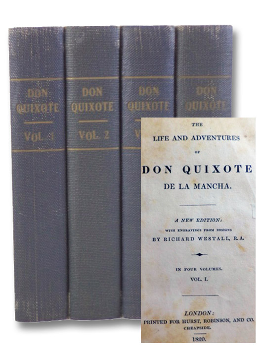 The Life and Adventures of Don Quixote de la Mancha. A New Edition in Four Volumes. [Parts I & II], Cervantes [Saavedra], Miguel de