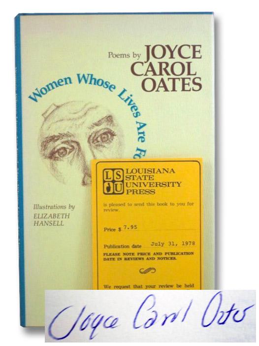 Women Whose Lives Are Food, Men Whose Lives Are Money: Poems, Oates, Joyce Carol; Hansell Elizabeth