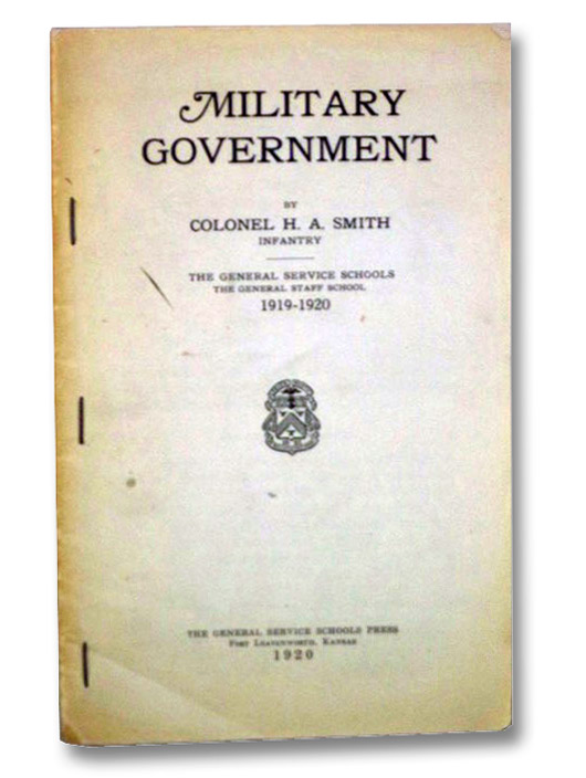 Military Government, Smith, H.A.