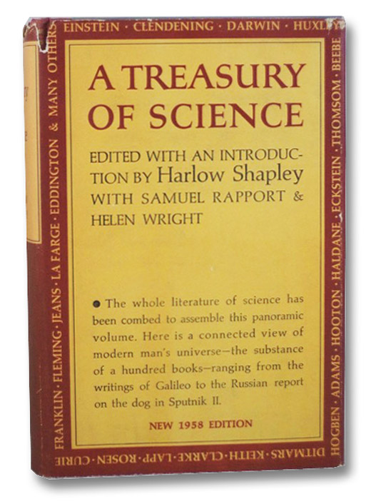 A Treasury of Science (New 1958 Edition), Shapley, Harlow; Rapport, Samuel; Wright, Helen; Shapley, Harlow