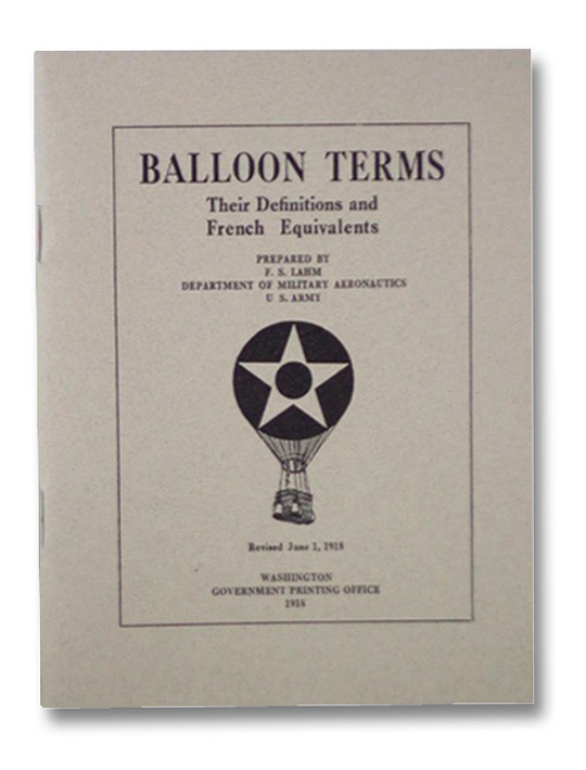 Balloon Terms: Their Definitions and French Equivalents, Lahm, F.S.