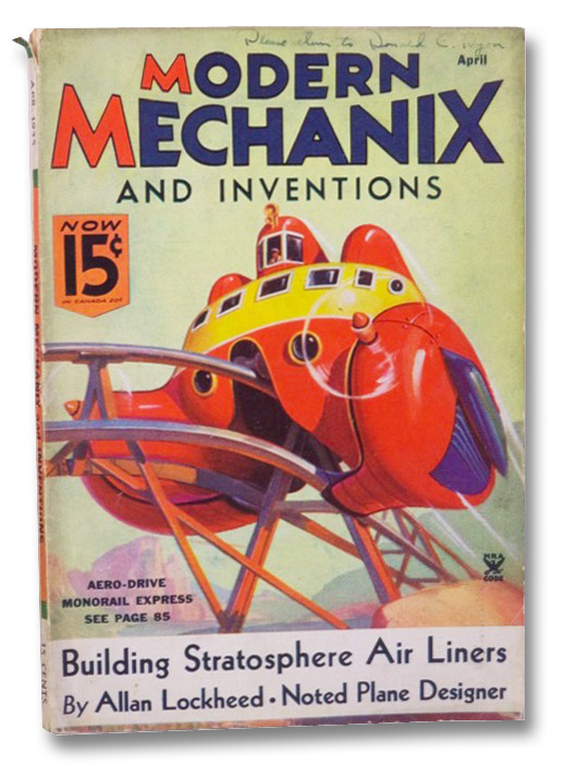 Modern Mechanix and Inventions, April 1935, Volume XIII, Number 6