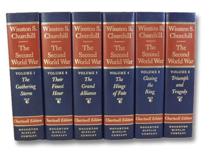 The Second World War Six Volume Set: Their Finest Hour; The Gathering Storm; The Hinge of Fate; The Grand Alliance; Closing the Ring; Triumph and Tragedy (Chartwell Edition), Churchill, Winston S. [Spencer]; Shirer, William L.