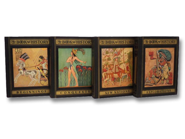 My Book of History: A Picturesque Tale of Progress, in Four Volumes: Beginnings; Conquests; New Nations; Explorations, Miller, Olive Beaupre; Baum, Harry Neal