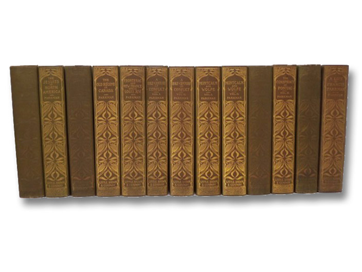 The Works of Francis Parkman, Centenary Edition, in Thirteen [13] Volumes: Pioneers of France in the New World; The Jesuits in North America; La Salle and the Discovery of the Great West; The Old Regime in Canada; Count Frontenac and New France under Louis XIV; A Half-Century of Conflict (2 Vols.); Montcalm and Wolfe (2 Vols.); The Conspiracy of Pontiac and the Indian War after the Conquest of Canada (2 Vols.); The Oregon Trail; Life of Parkman, Parkman, Francis; Farnham, Charles Haight