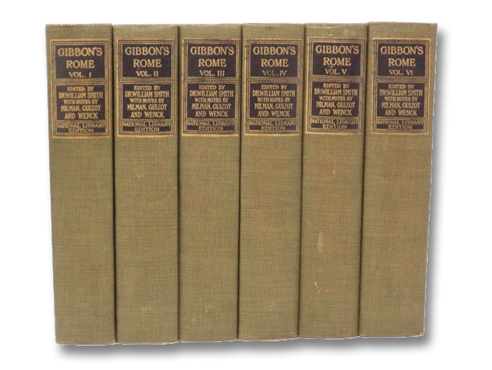 The History of the Decline and Fall of the Roman Empire 6-Volume Hardcover Set (National Library Edition), Gibbon, Edward; Guizot; Milman; Wenck; Smith, William