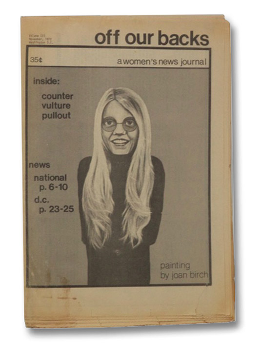 Off Our Backs: A Women's New Journal, Volume III, Number 3, November, 1972