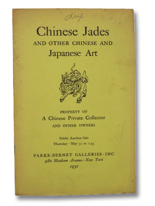 Chinese Jades and Other Chinese and Japanese Art. Property of a Chinese Private Collector and Other Owners.