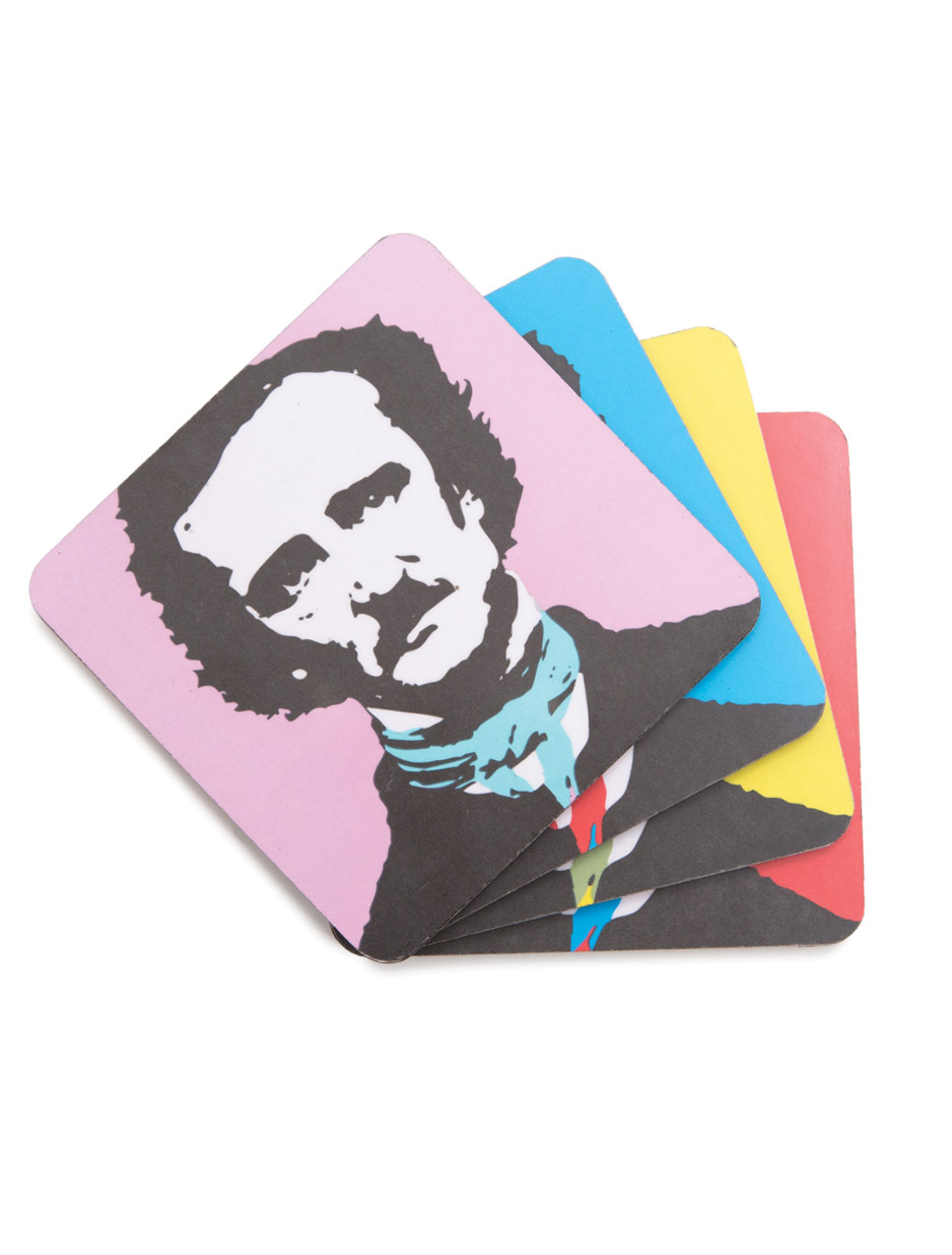 Edgar Allan Poe Coaster Set, Out of Print