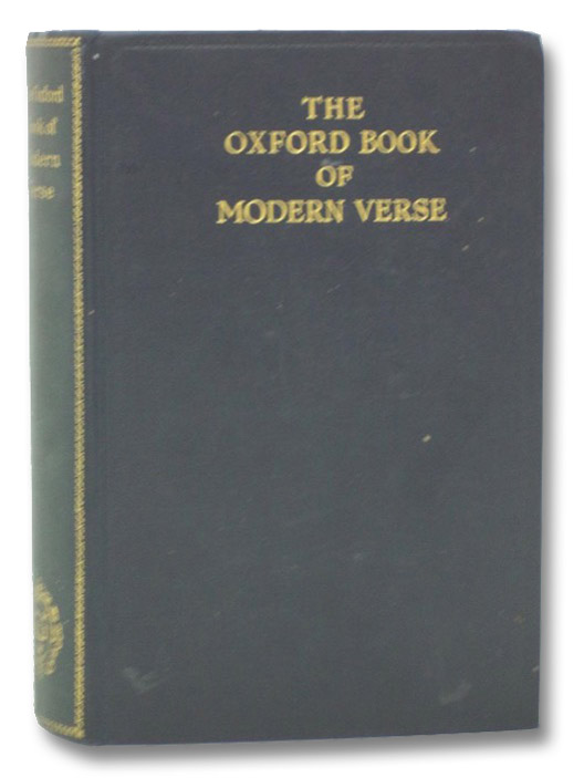 The Oxford Book of Modern Verse, 1892-1935, Yeats, W.B.