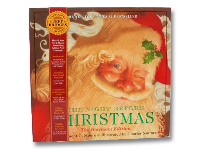 The Night Before Christmas: The Heirloom Edition (CD Included, Narrated by Jeff Bridges), Moore, Clement C.; Santore, Charles